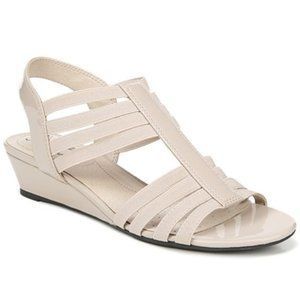 New Women's Taupe Strappy Wedge Sandal